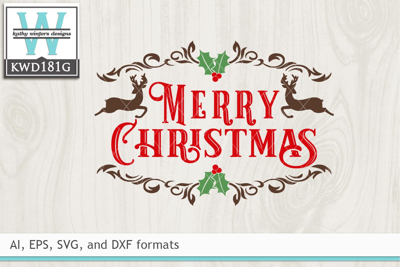 Christmas SVG - Merry Christmas example image 2