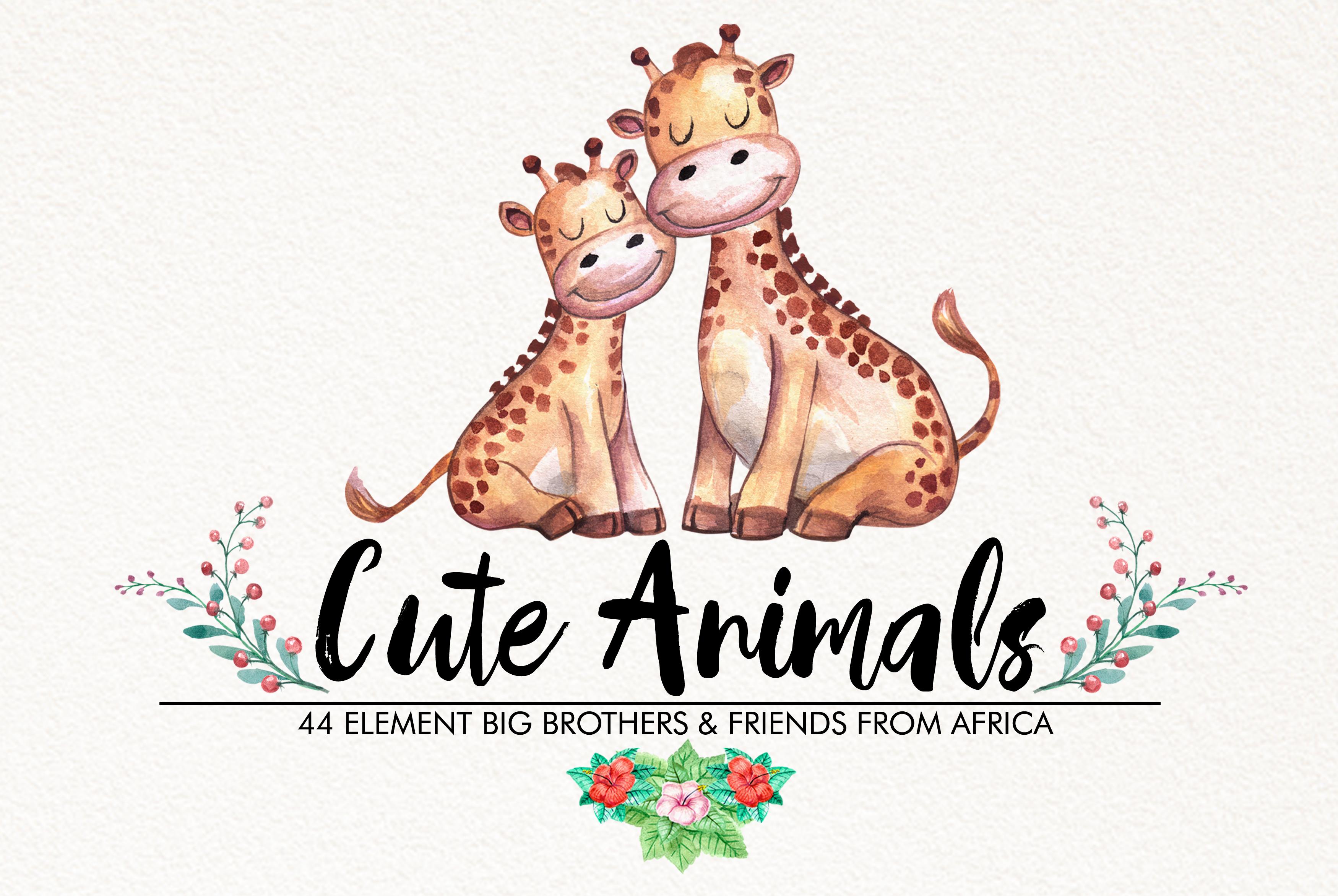 Watercolor Cute Animals example image 1