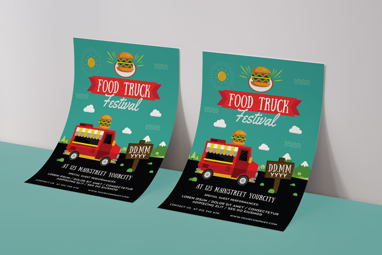 FOOD TRUCK FESTIVAL FLYER 1 example image 4