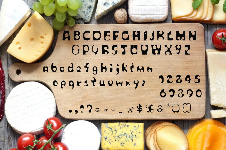 Cheese script / font / alphabet example image 3