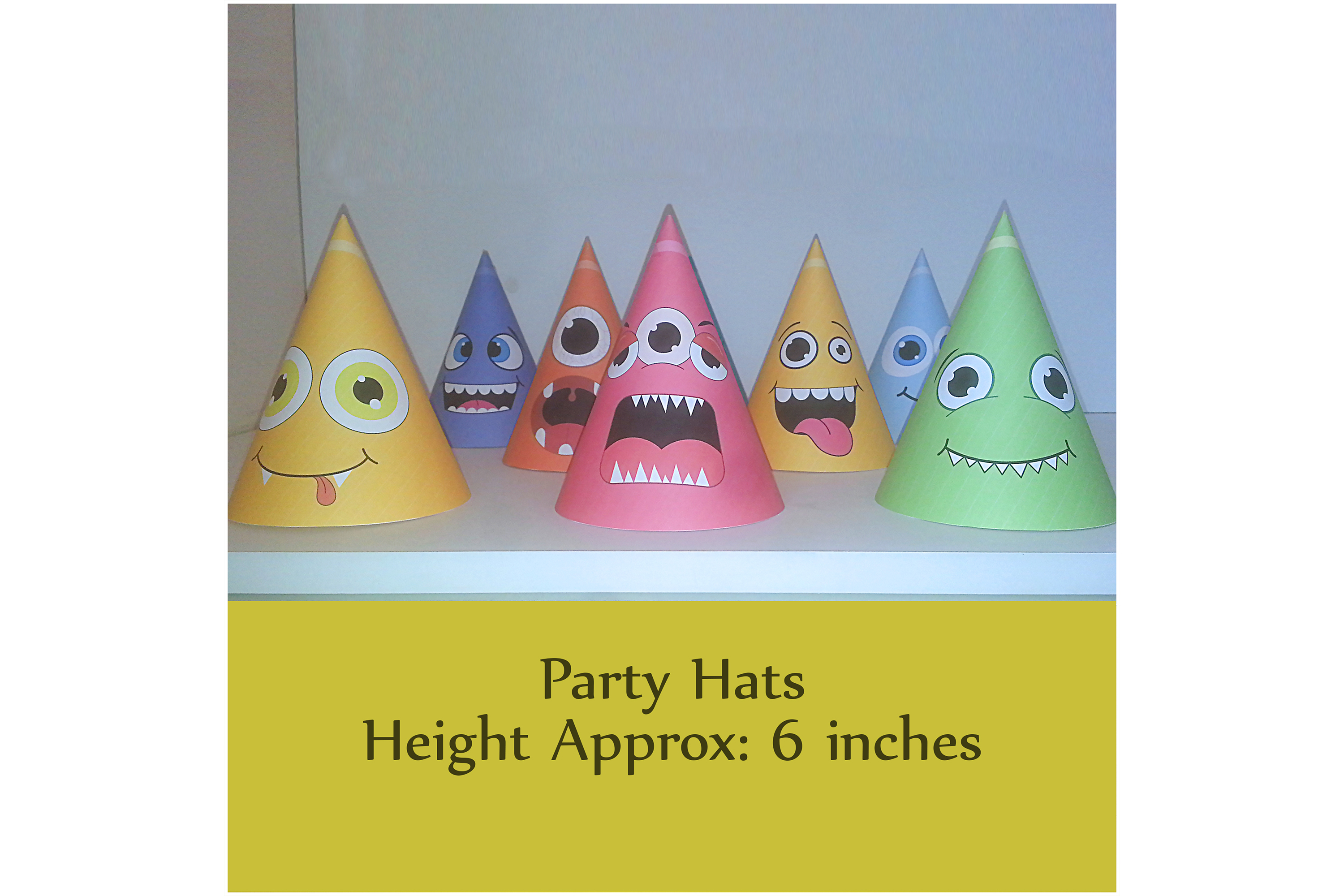 Monster Hat Templates | Birthday hats example image 2