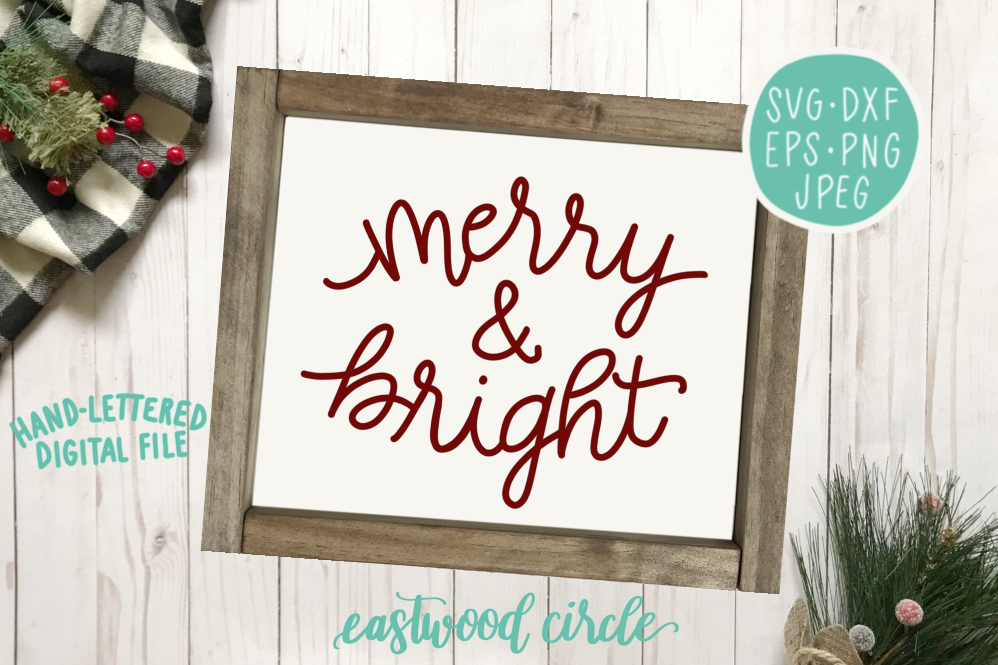 Christmas SVG Bundle - Hand Lettered SVG Files for Signs example image 7