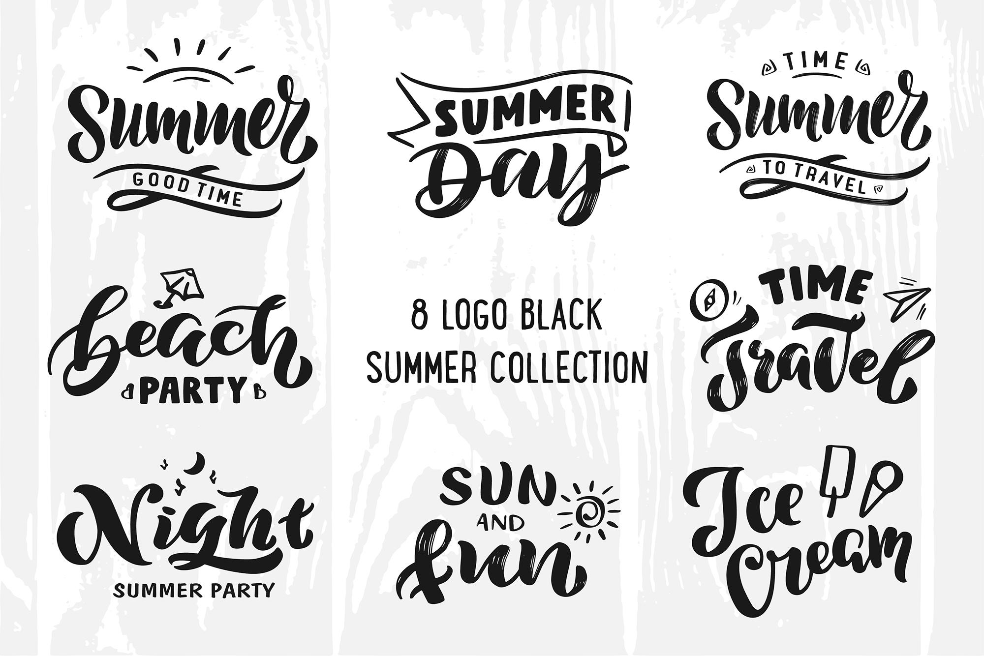 Summer logo set Bonus example image 2