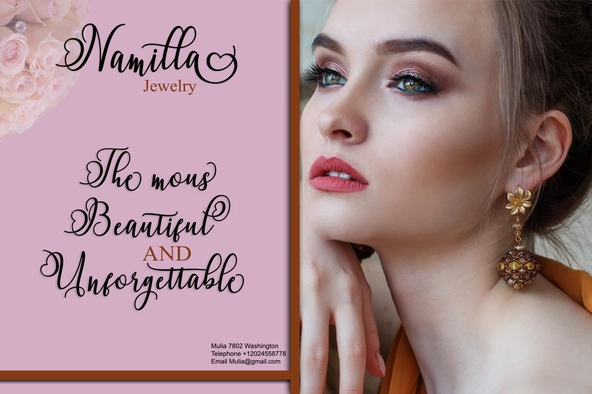 Namilla Script example image 4