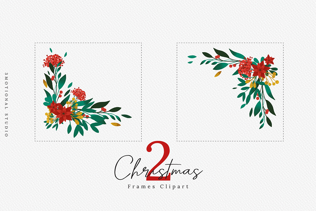 Merry Christmas Card Template 5x7 example image 5