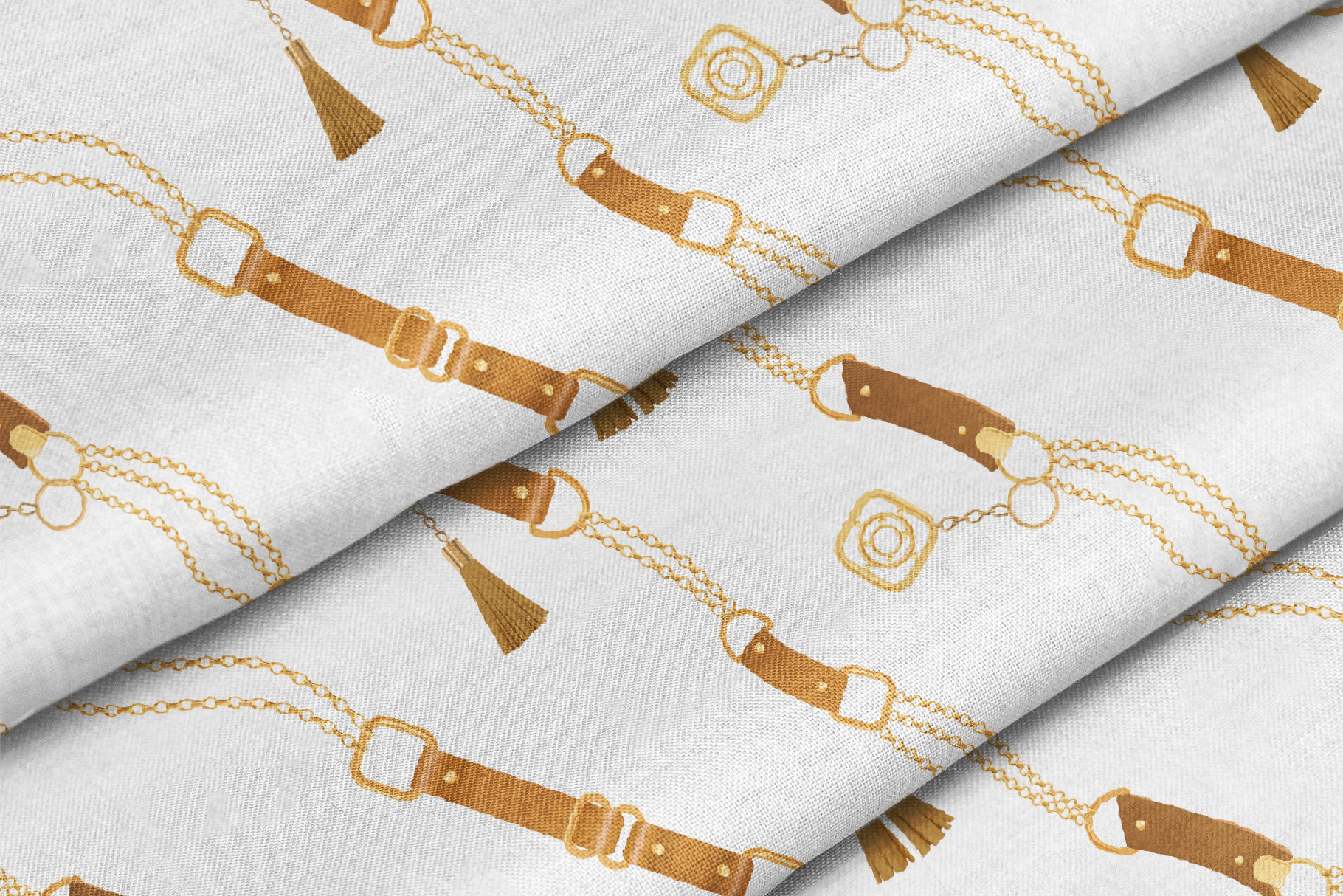 Chains and Belts Seamless Patterns. Set 2 example image 4