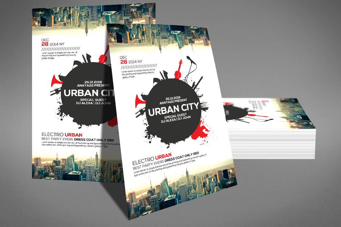 Urban Sound Party Flyer example image 3
