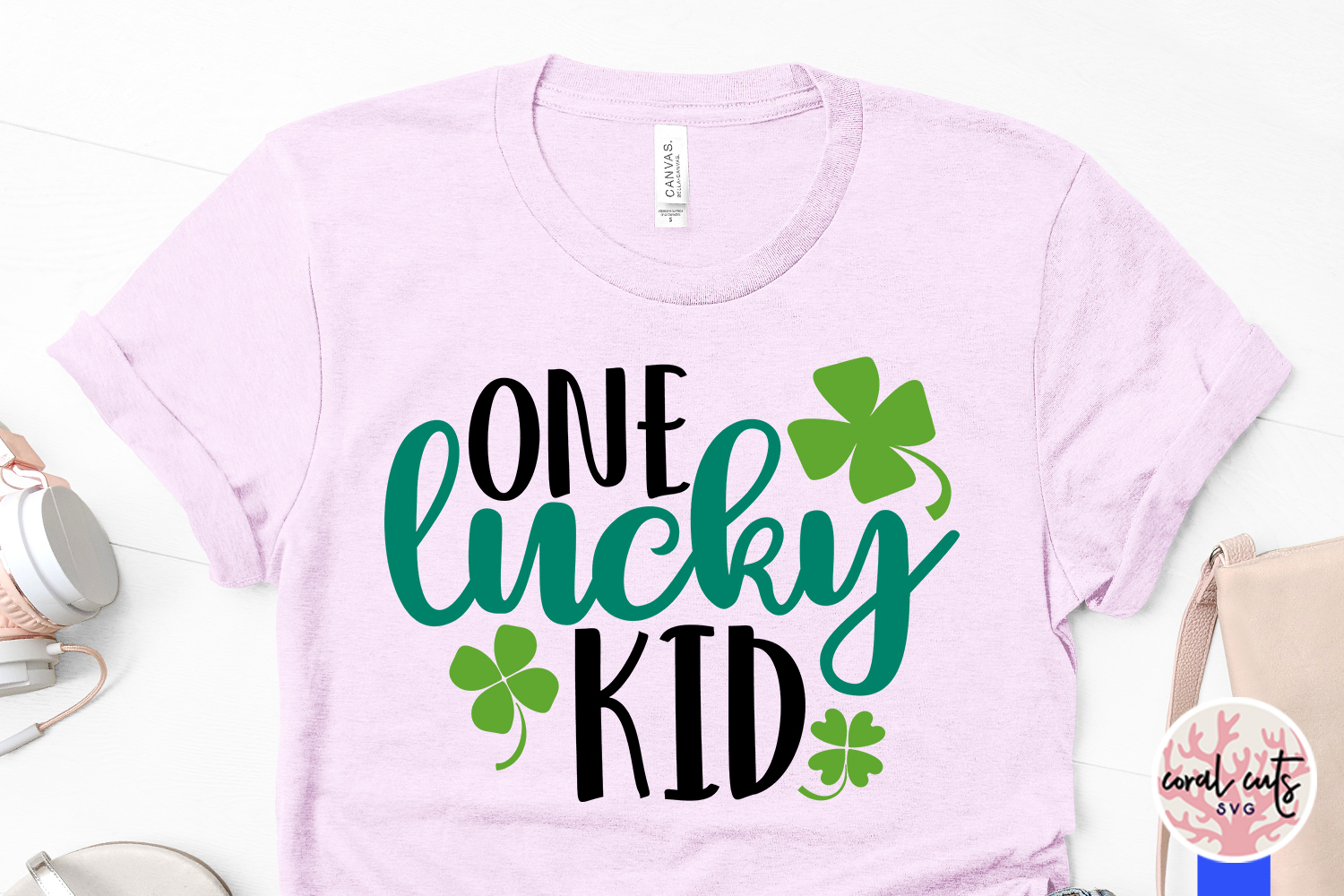 One Lucky Kid - St. Patrick's Day SVG EPS DXF PNG example image 3