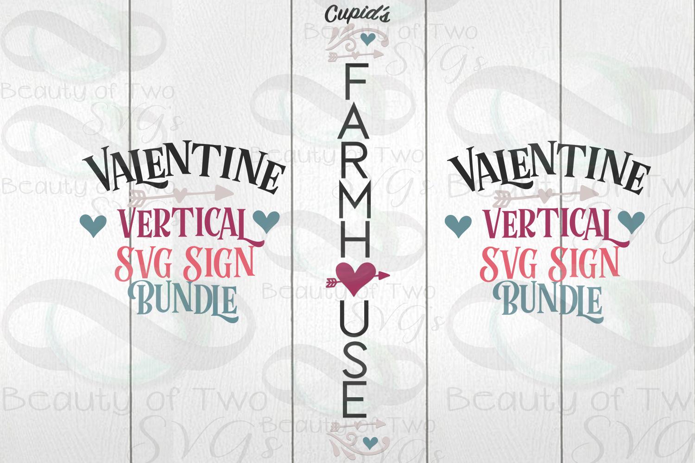 Valentines Vertical svg Sign Bundle, 4 Valentine svg designs example image 5