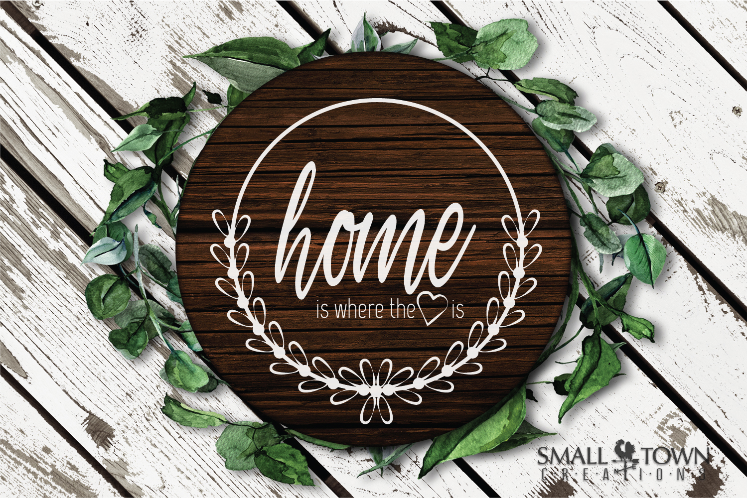 Home, Welcome, Blessed, Wreath, PRINT, CUT & DESIGN example image 8