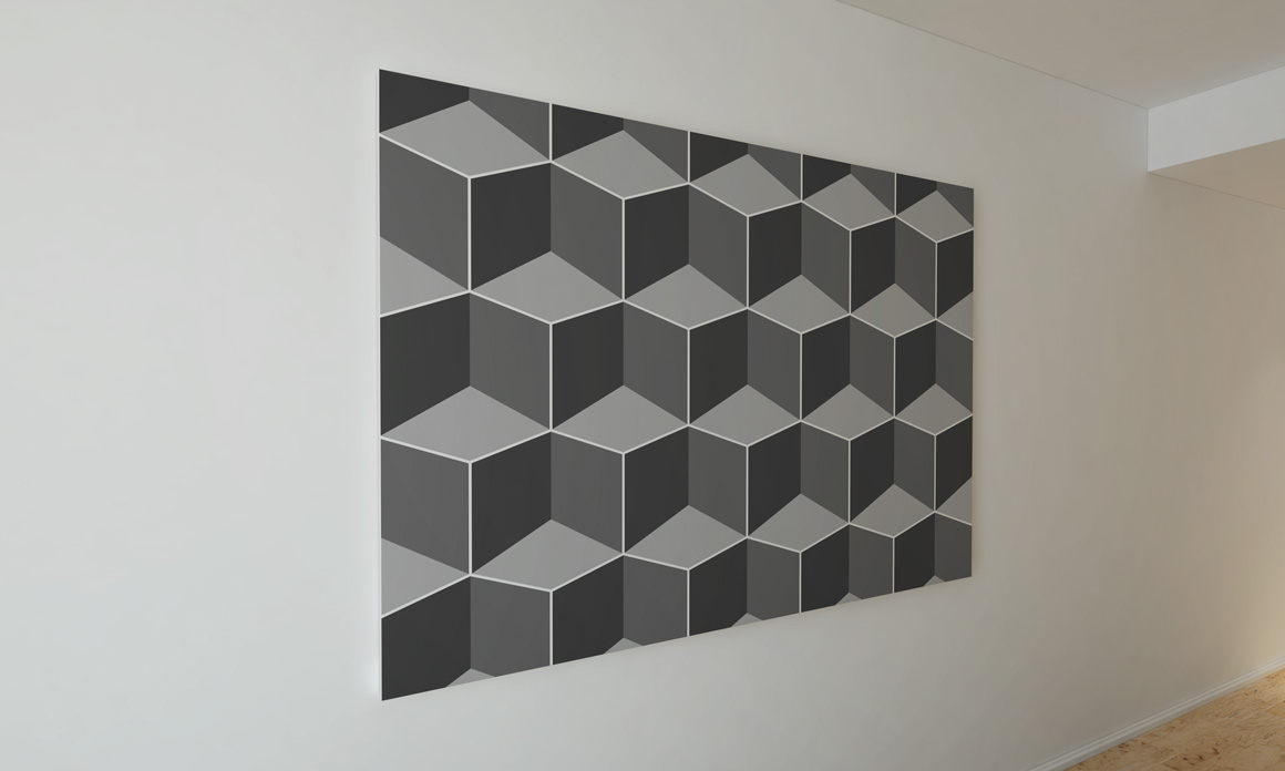 Dark seamless geometric textures example image 11