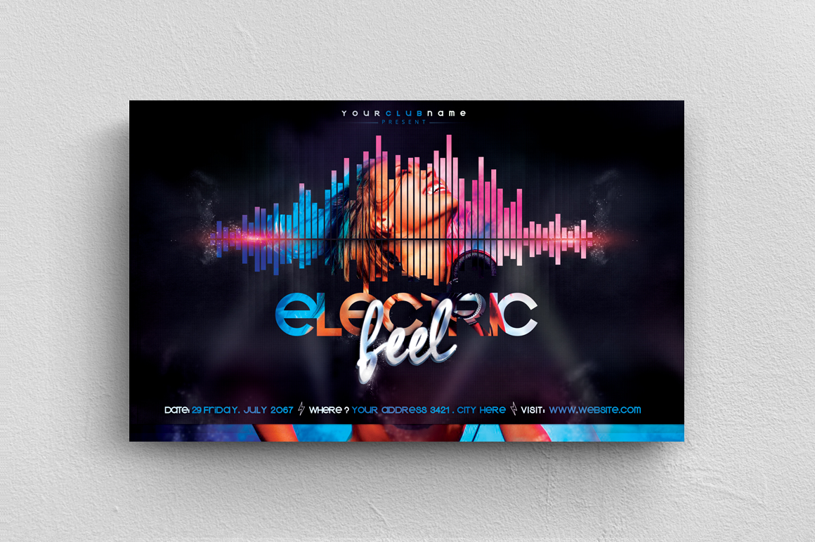 Electric Feel Flyer Template example image 1