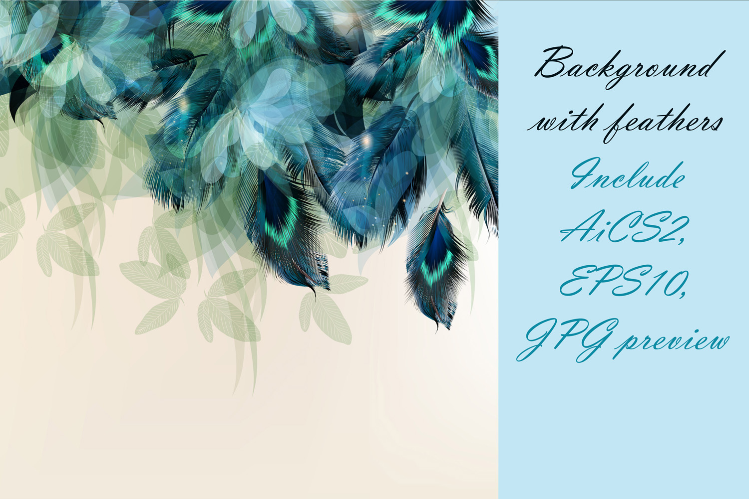 Colorful feather bundle. Vector illustrations and elements example image 9
