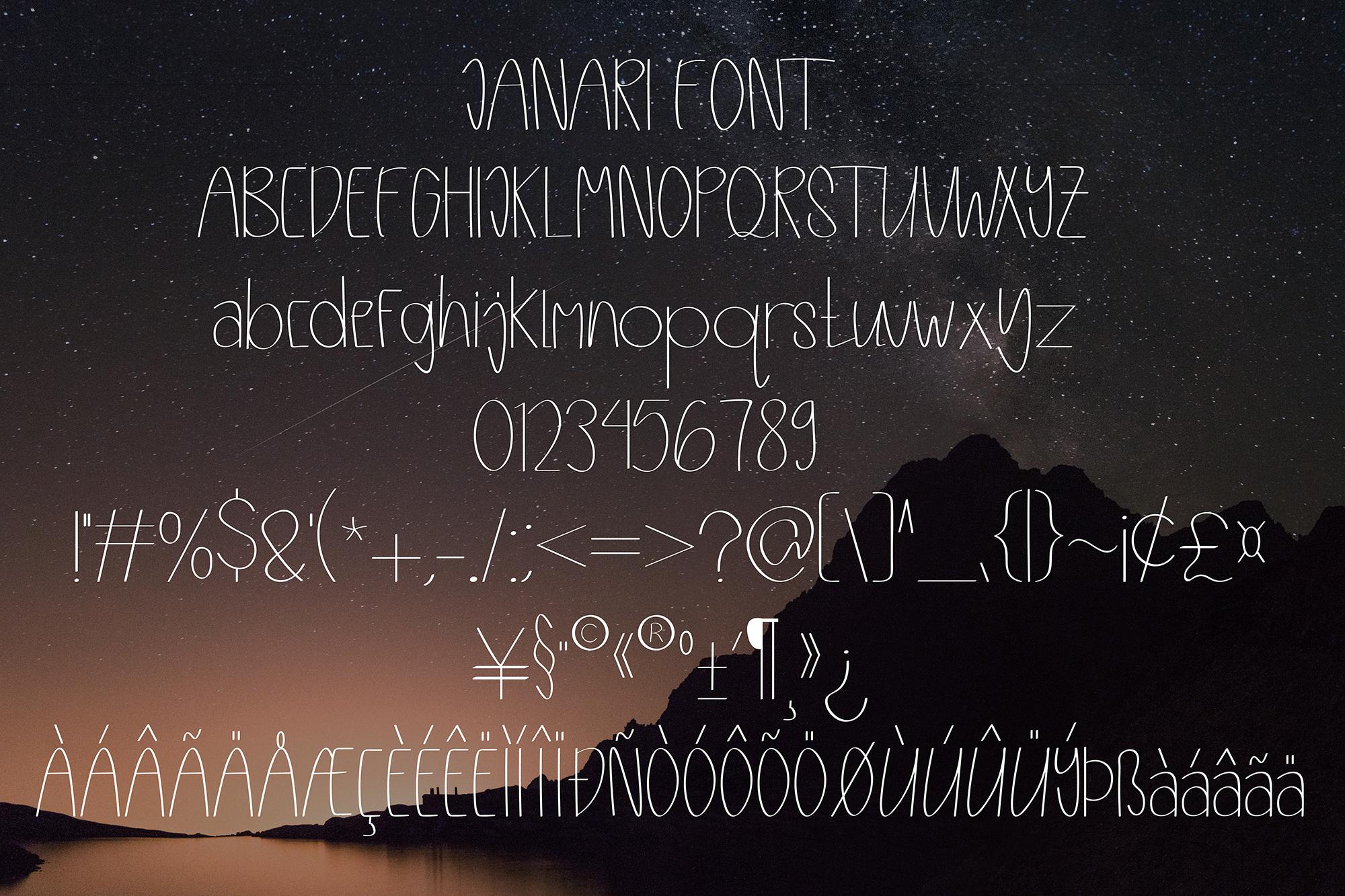 Janari font example image 2