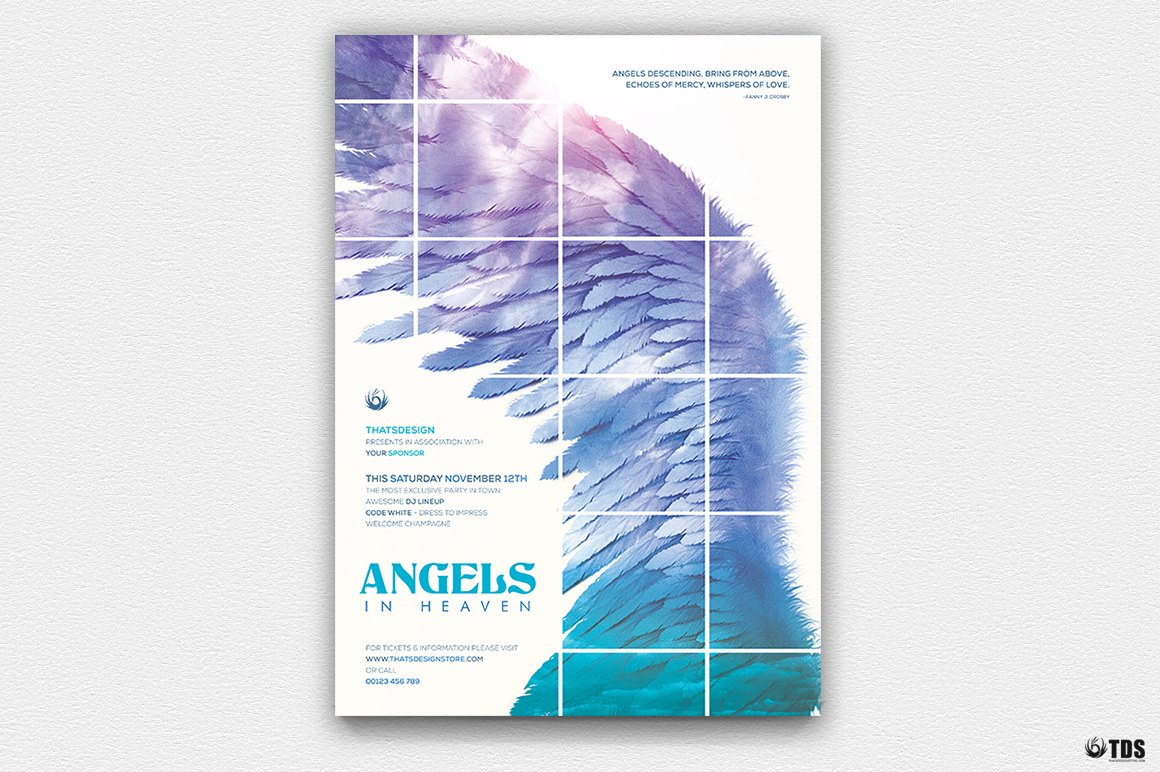 Angels Party Flyer Bundle example image 2