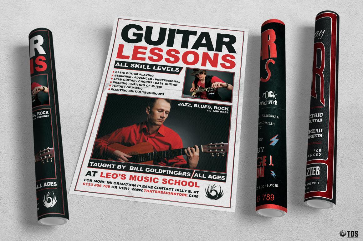 Guitar Lessons Flyer Bundle example image 4