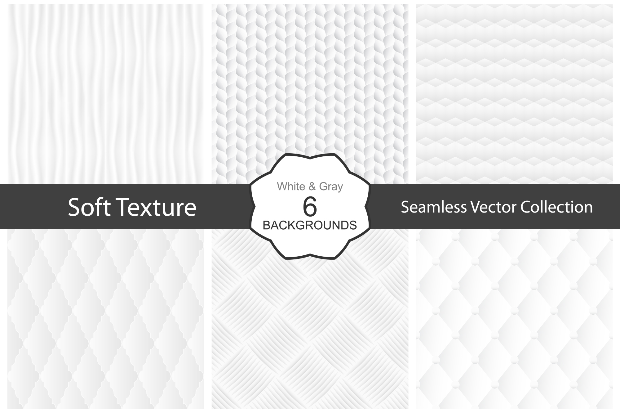 Soft textures - seamless collection. example image 1