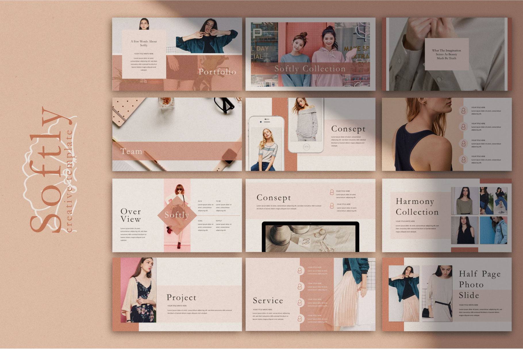 Softly Keynote Template example image 2