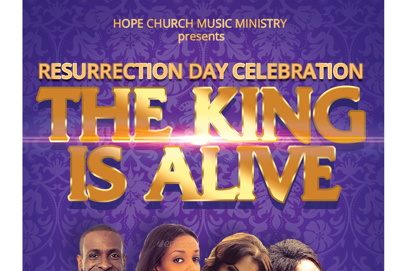 Resurrection Day Concert Flyer Poster Template example image 3
