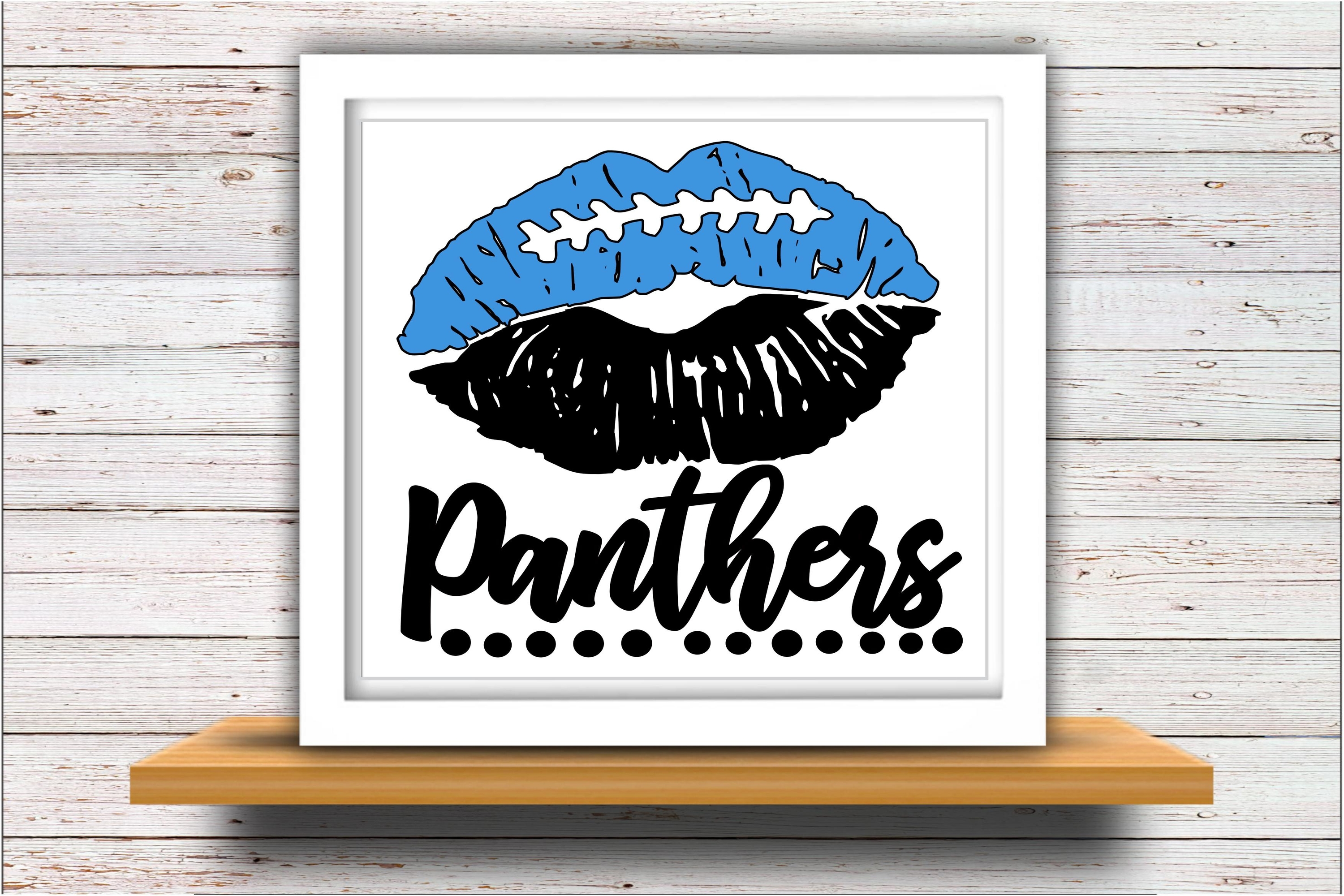 Football SVG DXF JPEG Silhouette Cameo Cricut panthers lips example image 2