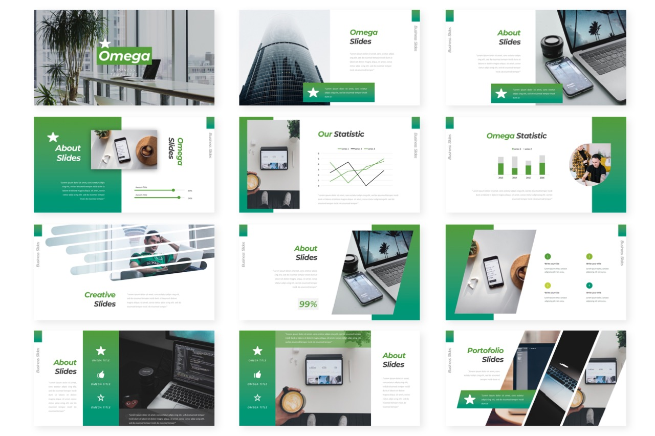 Omega Business Powerpoint example image 2