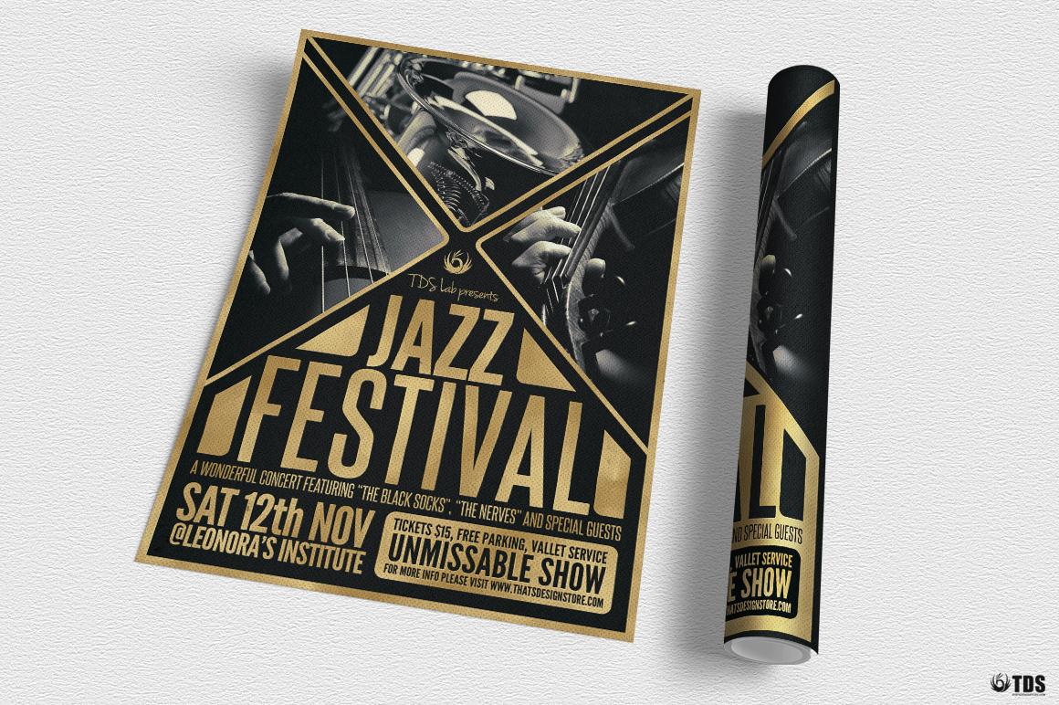Golden Jazz Flyer Template example image 3