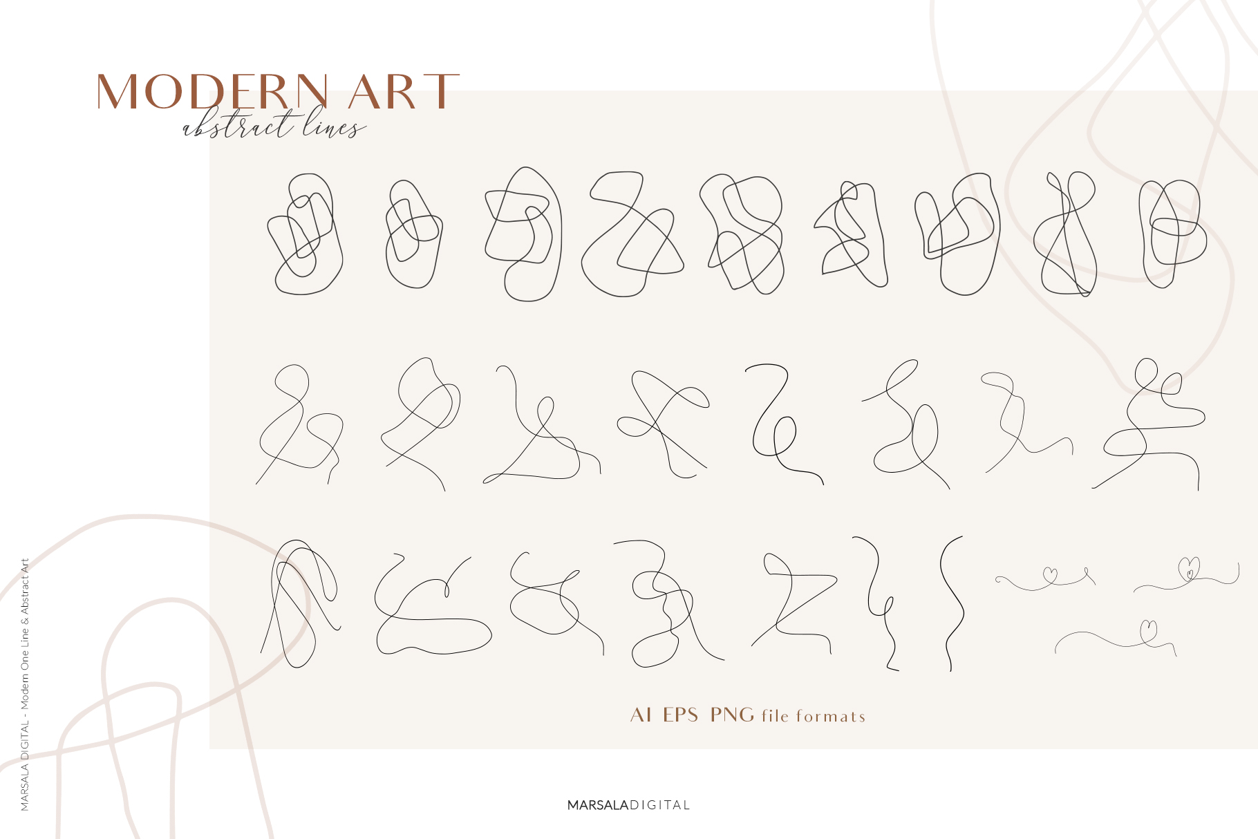 MODERN ART One Line and Abstract Graphics Prints example image 16
