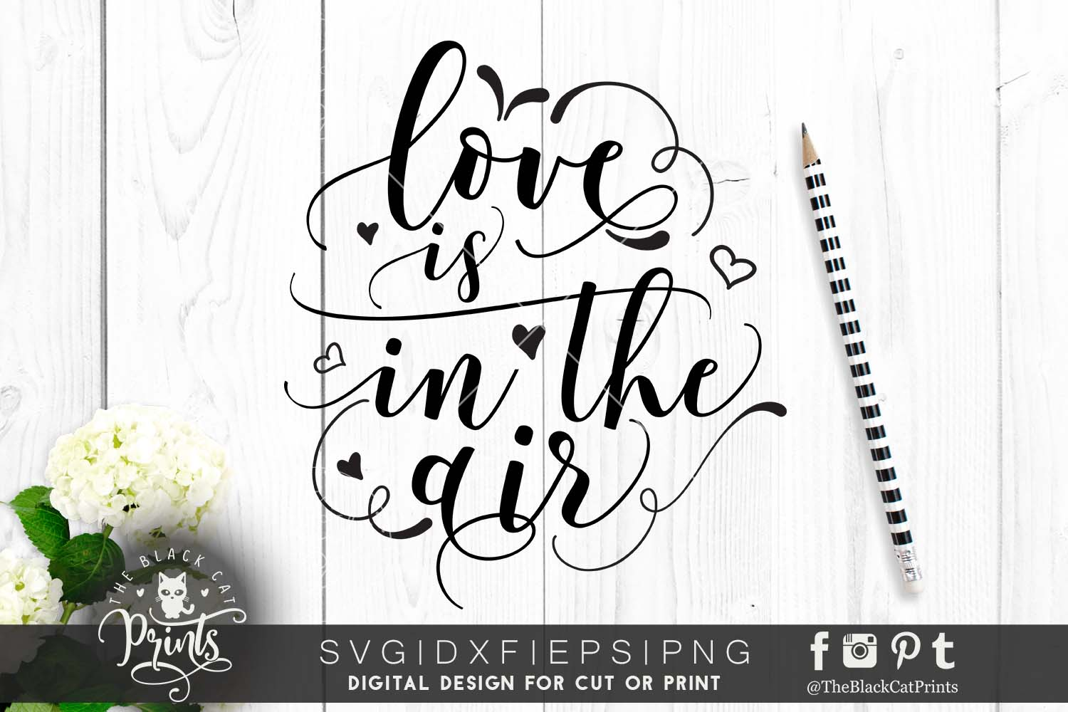 Love is in the air SVG DXF PNG EPS example image 1