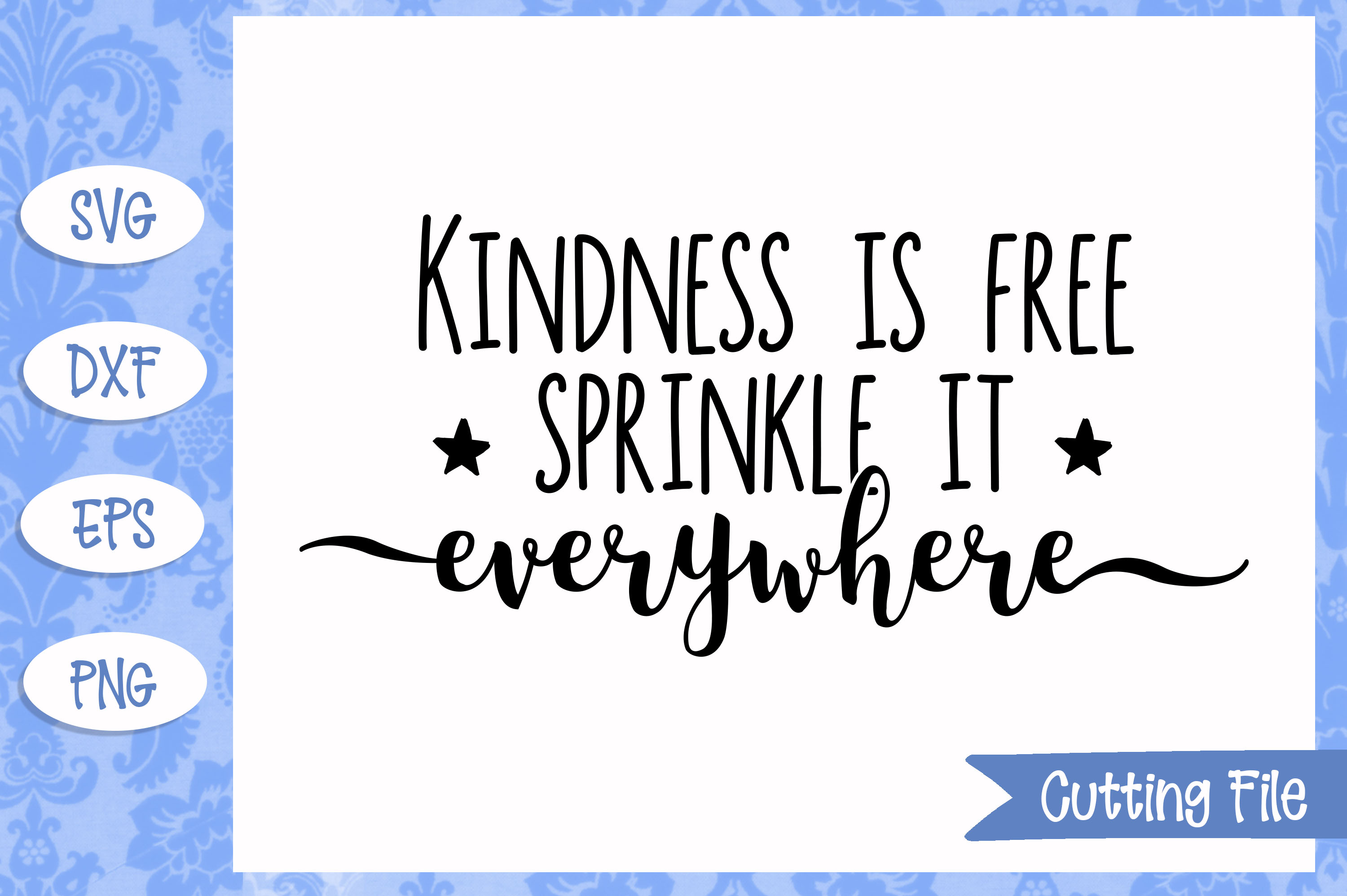 Kindness is free sprinkle it everywhere SVG file example image 1