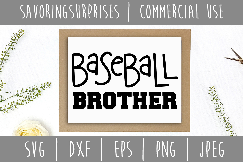 Baseball Brother SVG, DXF, EPS, PNG JPEG example image 2