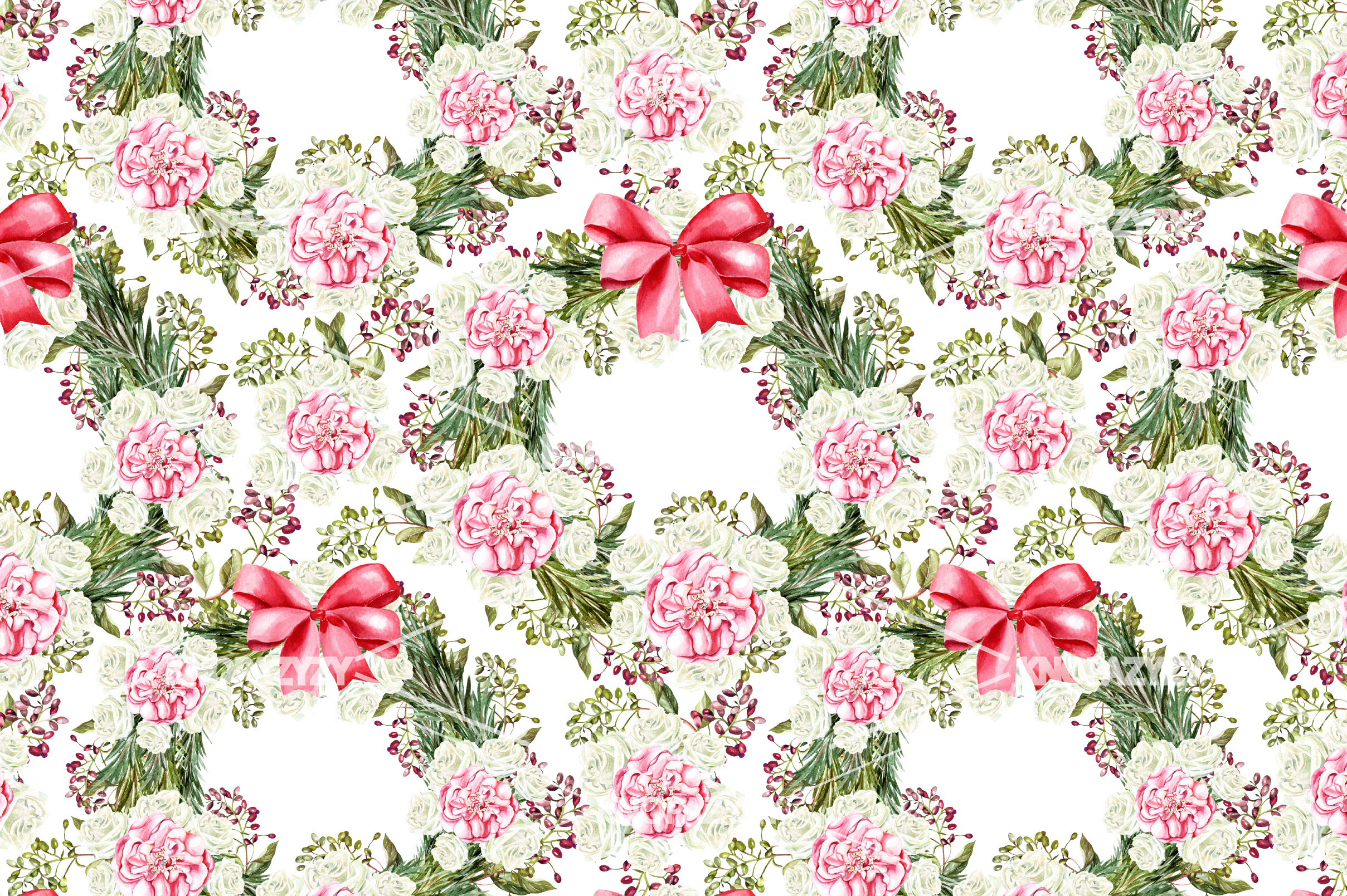 14 Hand drawn watercolor patterns example image 3