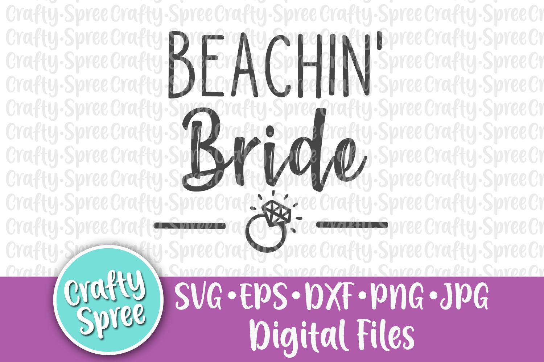 Beachin' Bride Beachin' Babes Bachelorette Wedding SVG DXF example image 3