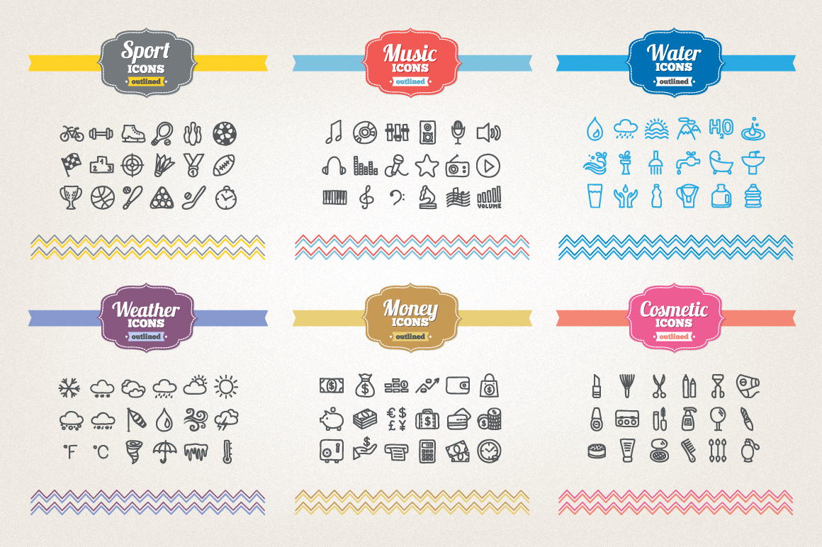 83 Off - Hand Drawn Icons Bundle example image 4