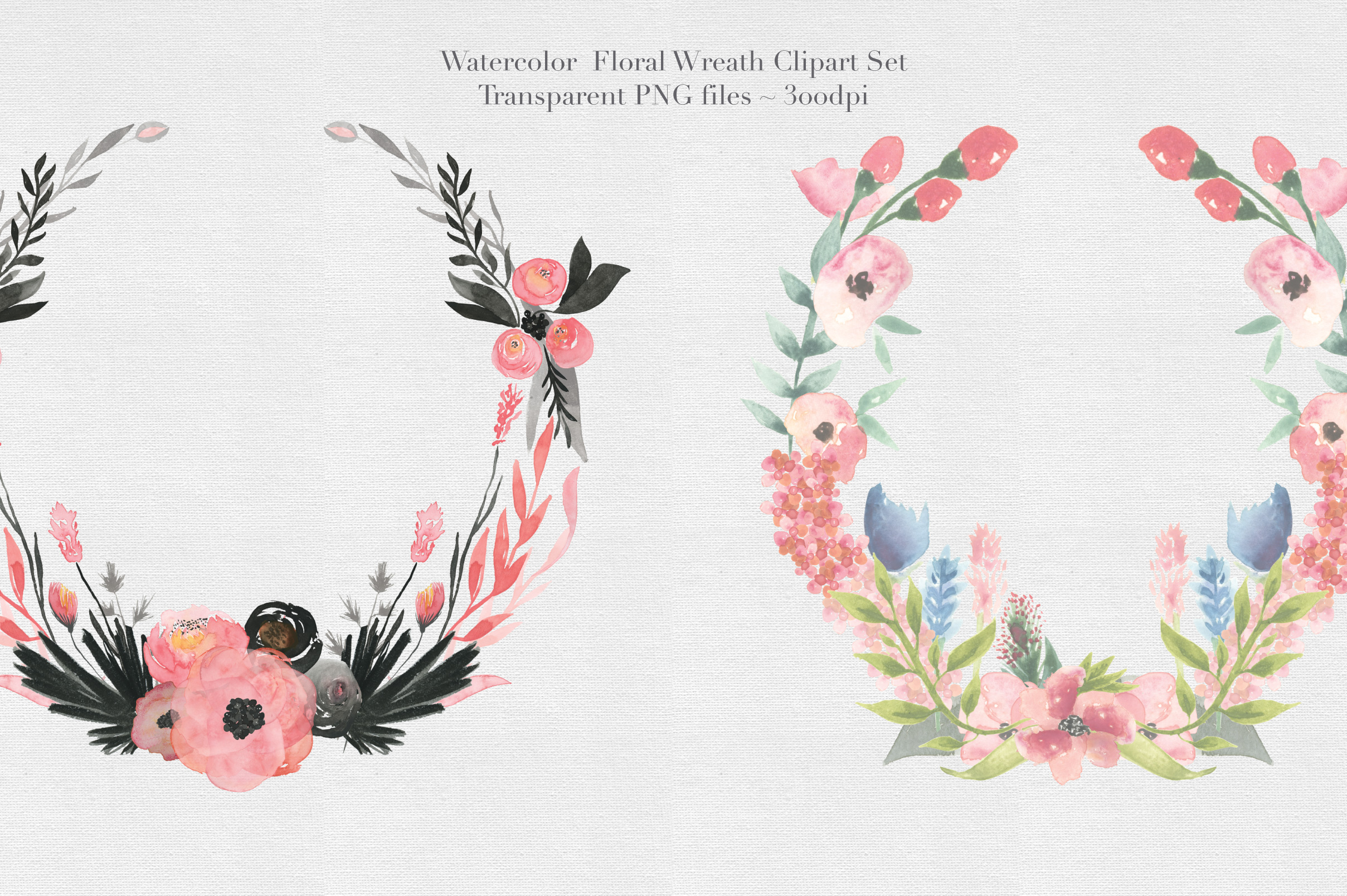 Watercolor Floral Wreaths Vol.2 example image 4