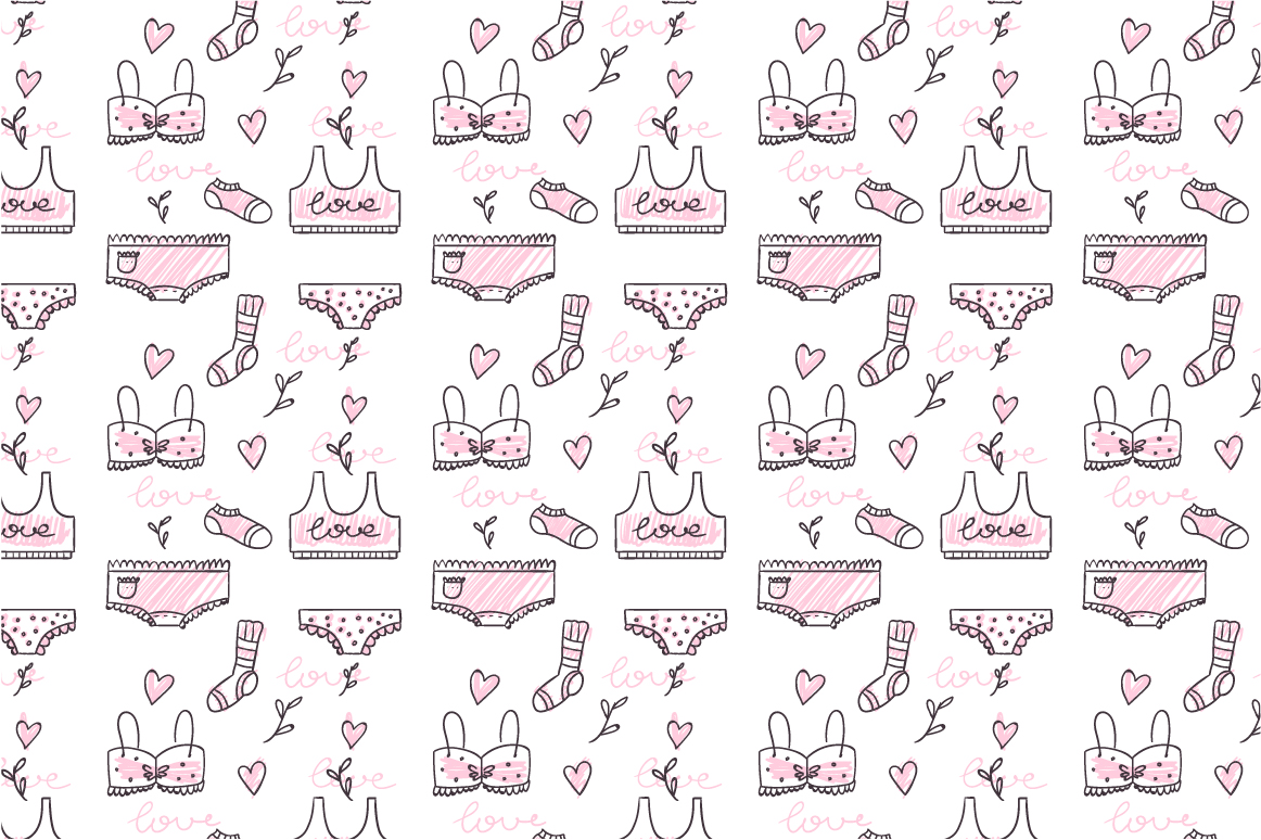 Doodled lingerie set example image 7