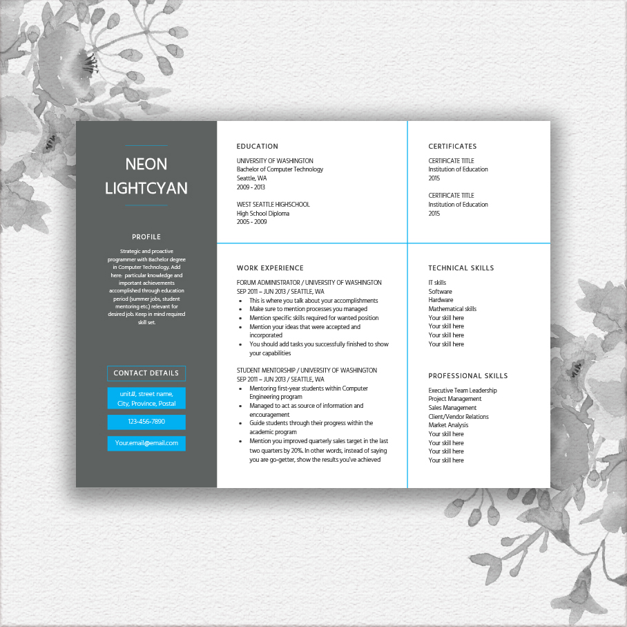 Landscape Resume Template example image 1