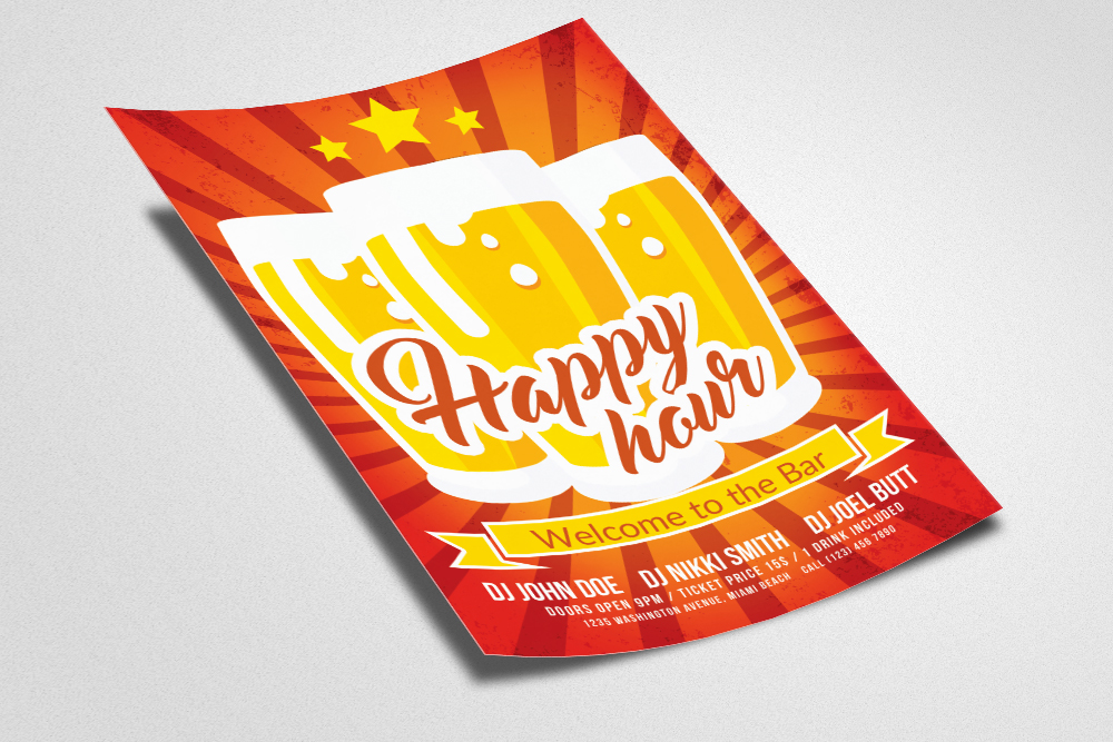 Happy Hour Flyer Template example image 2