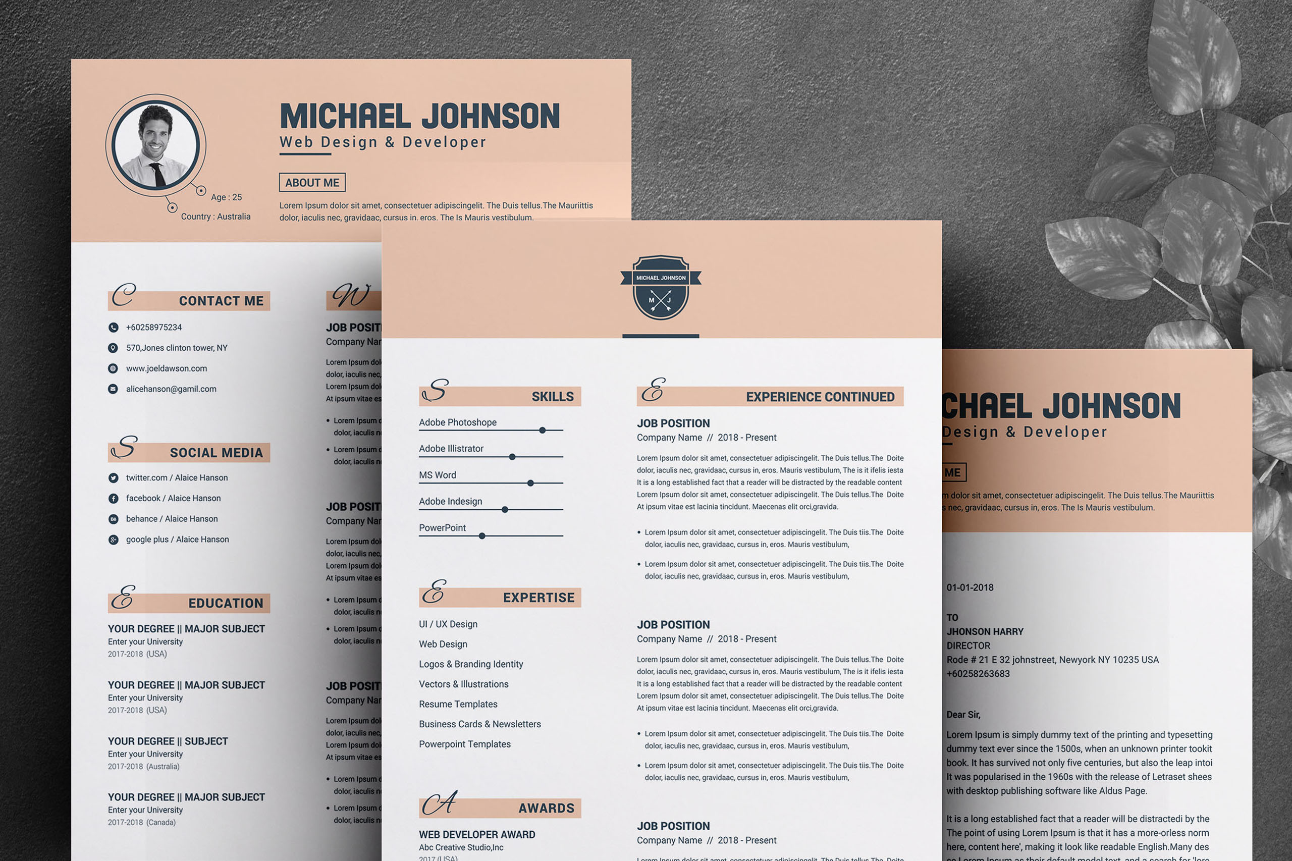 Resume Template for Word & Pages example image 3