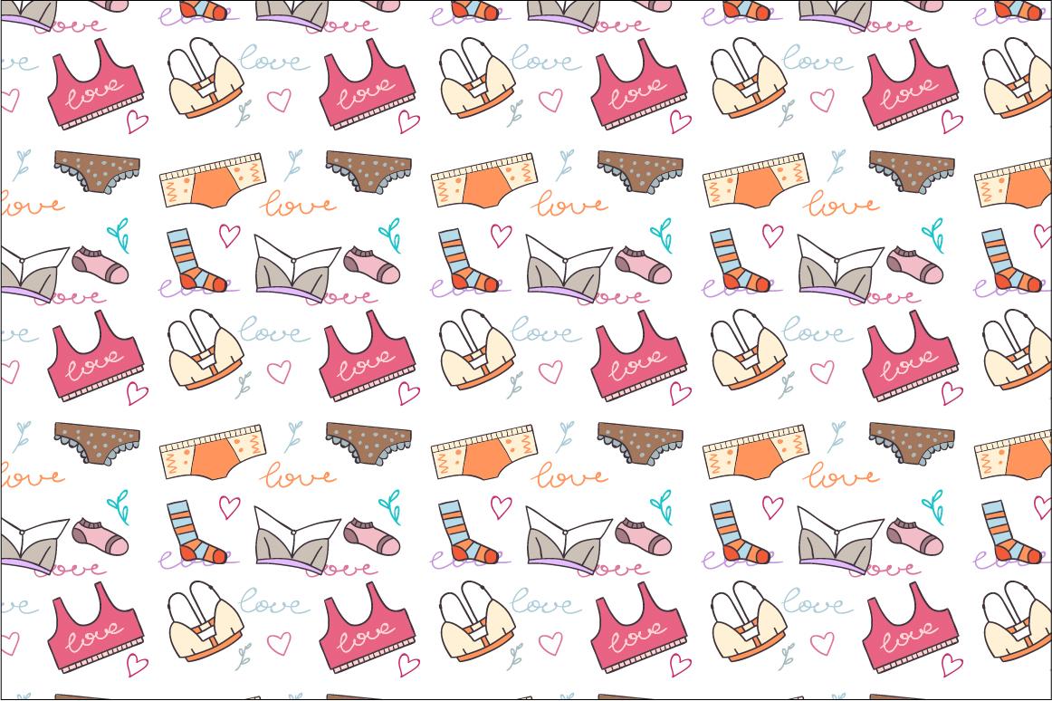 Doodled lingerie set example image 3