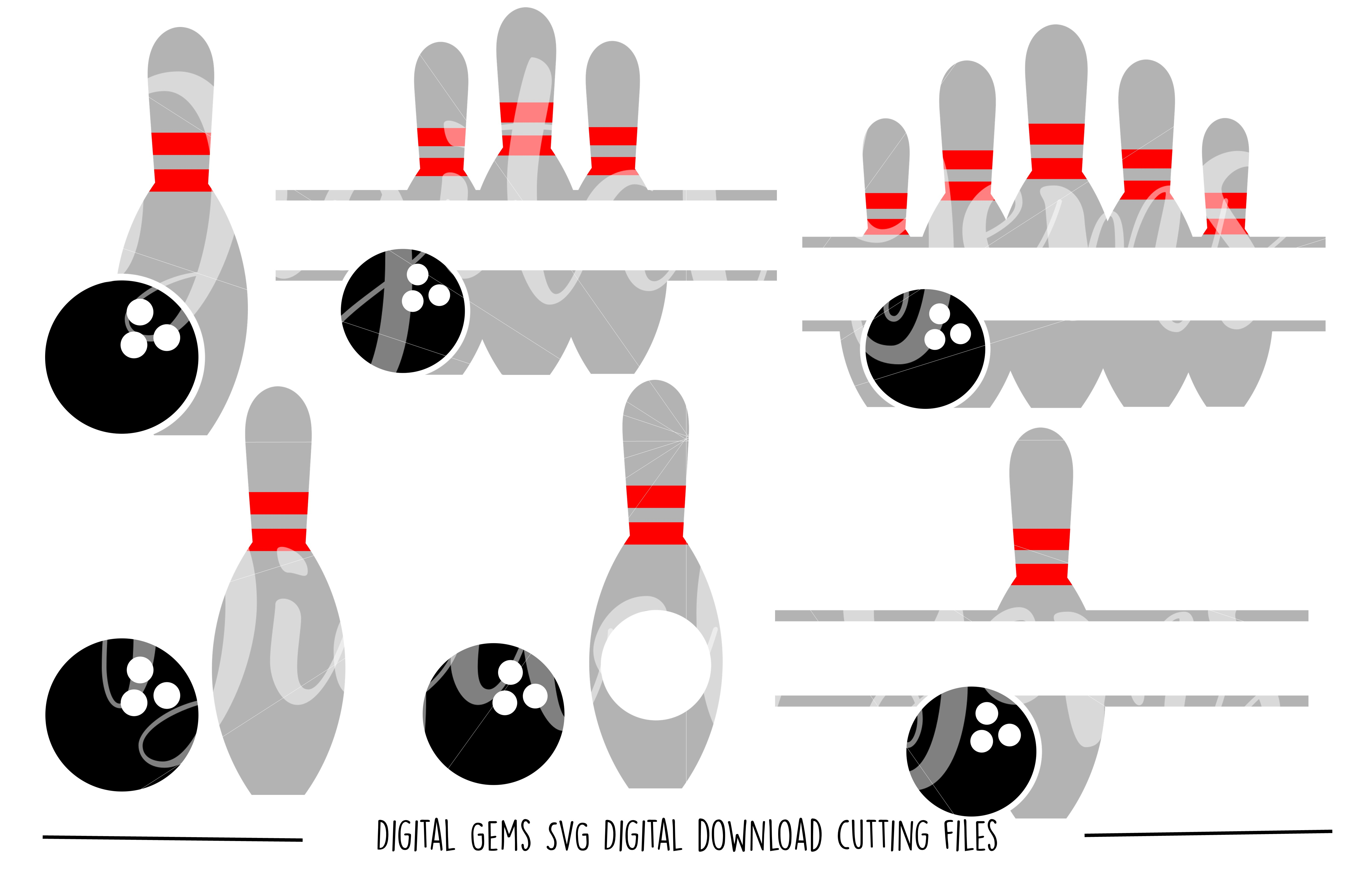 Bowling SVG / DXF / EPS / PNG files example image 1