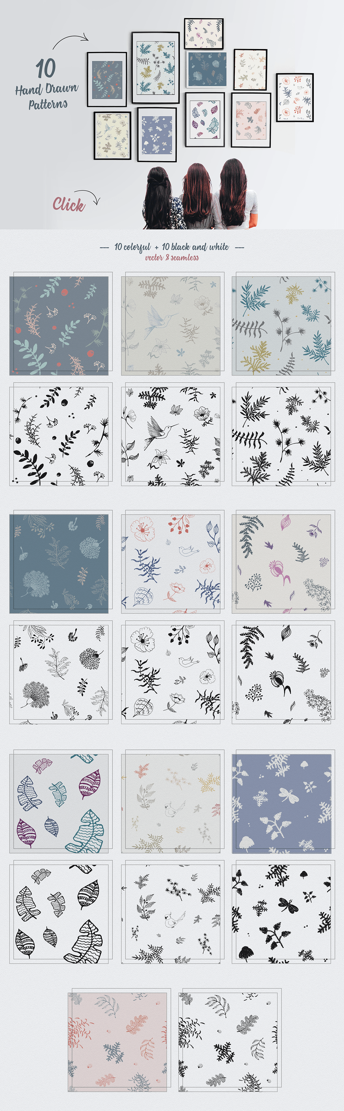70 Wallpaper Floral Elements and Patterns example image 9