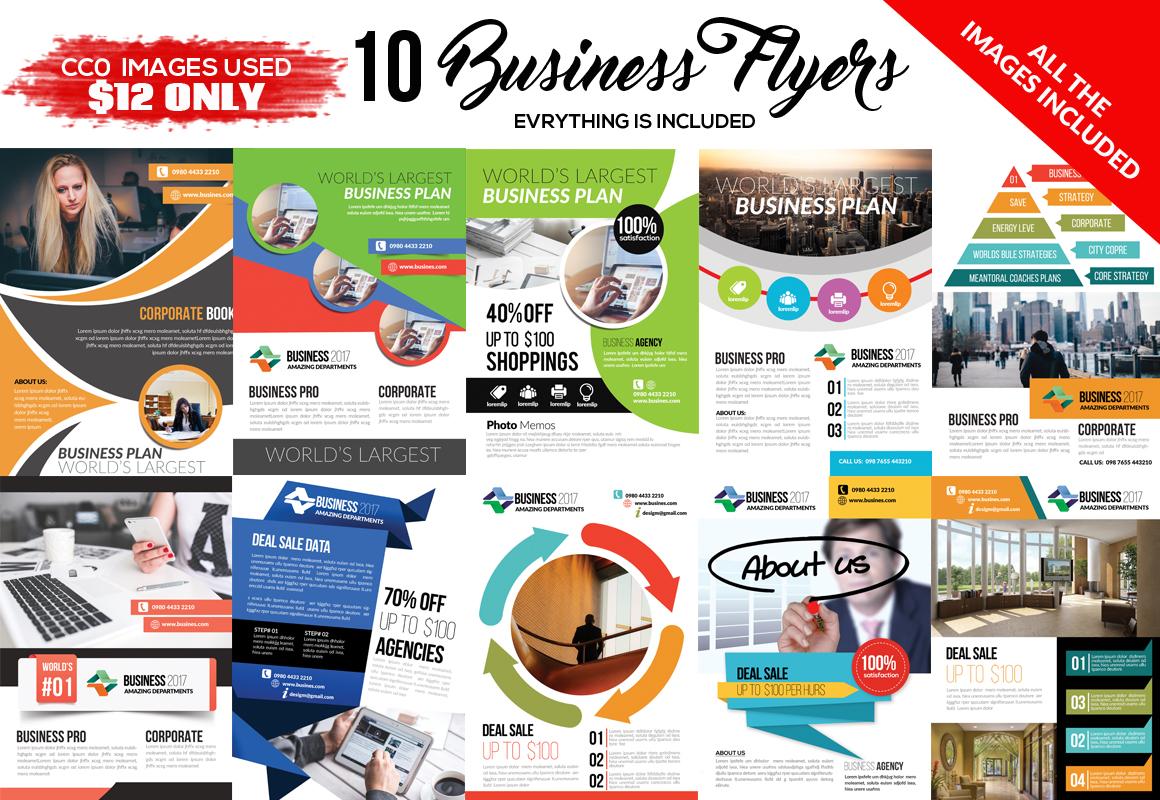10 Business Flyer Bundle example image 1