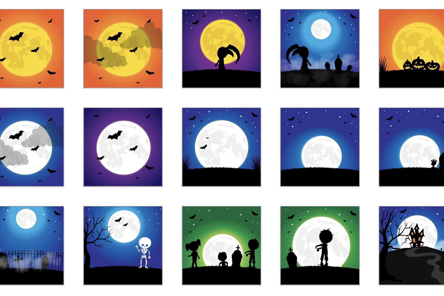 60 SCENES/BACKGROUNDS - Halloween Unicorn Bundle - 98OFF example image 4