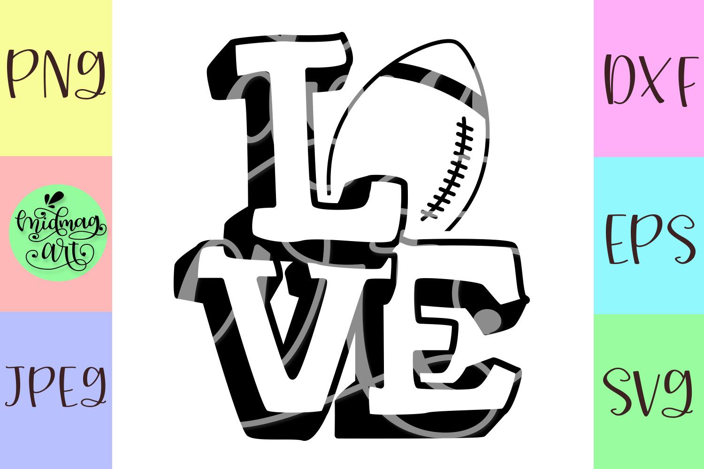 Love football svg, football mom svg, sports mom svg example image 2