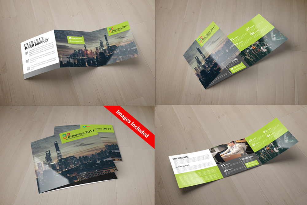 25 Square Trifold Business Brochures Bundle example image 4