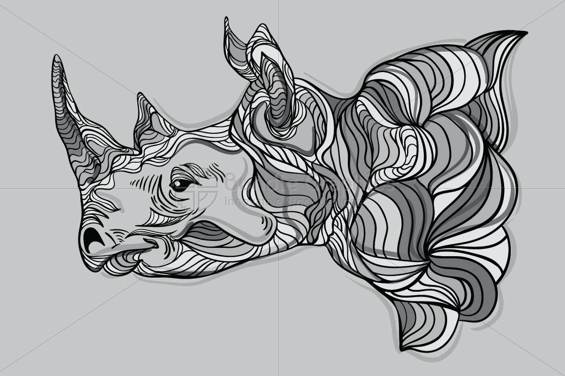 Rhinoceros - Wild Animal Creative Graphics example image 1