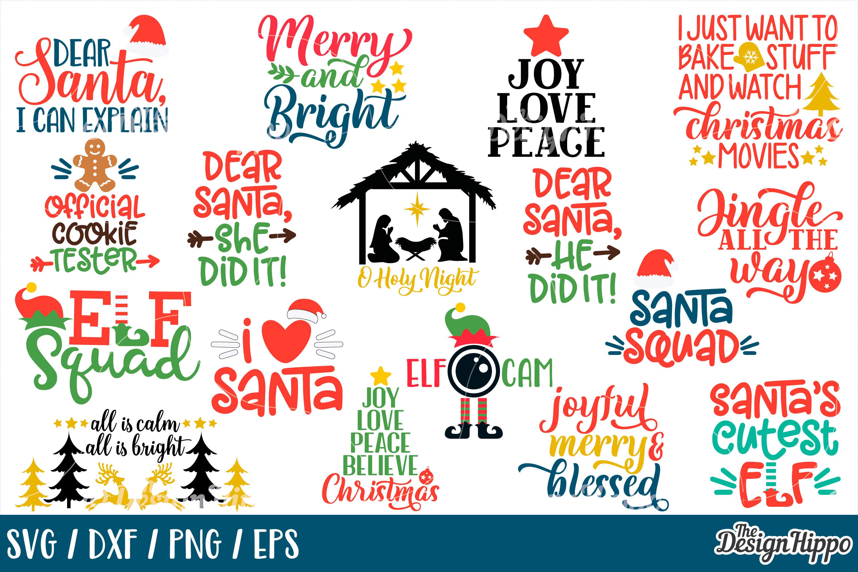 MEGA Christmas Bundle SVG PNG DXF EPS Cricut Cutting Files example image 3