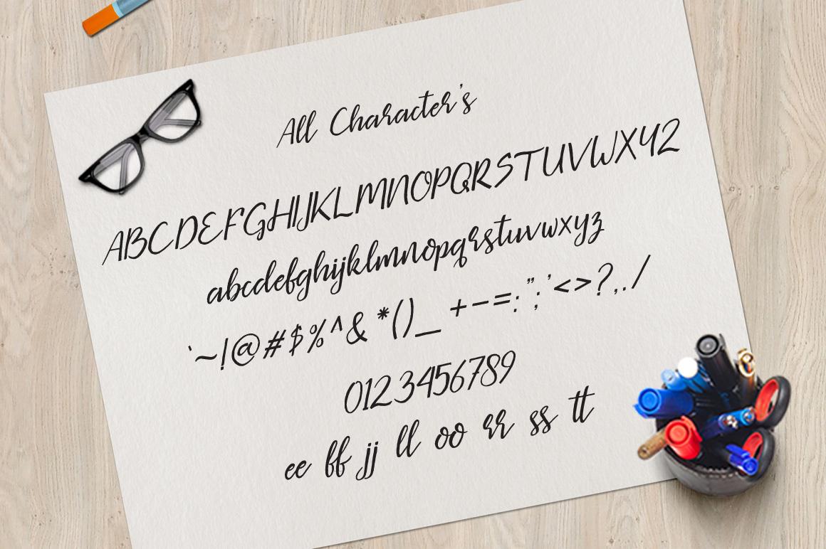 Missaki Typeface Italic Version example image 4