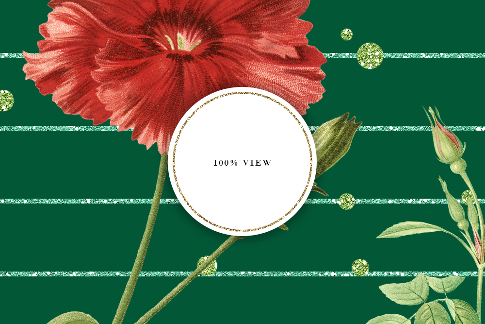 Red & Green Tileable Patterns With Vintage Flowers example image 5