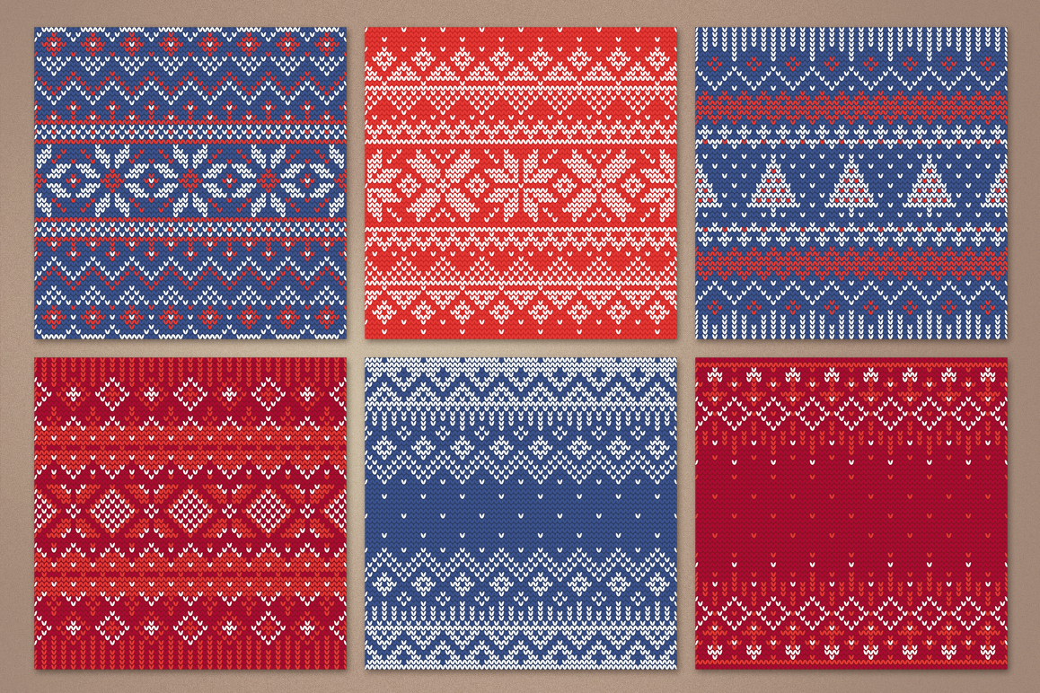 12 Knitting Seamless Patterns example image 4
